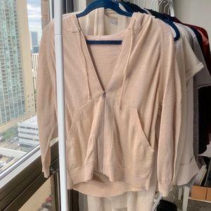 • lululemon • cotton hoodie 3/4 sleeve jacket